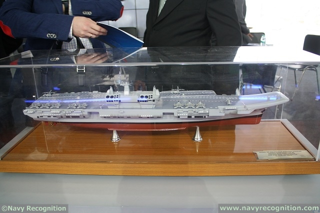 During Defexpo India 2014 held New Delhi, from February 6 to 9, 2014 Navy Recognition received some updates on the Indigenous Aircraft Carrier program from Cochin Shipyard representatives.