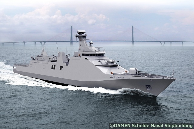 The Ministry of Defence of Indonesia and Dutch Shipyard Damen Schelde Naval Shipbuilding signed in June 2012 a contract for the engineering, build and delivery of a SIGMA 10514 Guided Missile Frigate, PKR (Perusak Kawal Rudal). The PKR will be built for the Indonesian Navy, TNI AL, and is to be delivered in 2016.