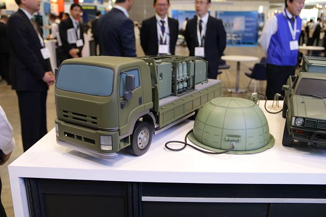 Japanese Company NEC presents its mobile water purification system at MAST Asia 2017, the Defense Maritime/Air Systems & Technologies in Tokyo, Japan. The NEC mobile Water Purifications System (NWPS) supports security or military forces who need clean and safe water in anytime and anywhere.