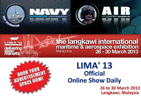 Navy Recognition, Air Recognition selected as Official LIMA 2013 Online Show Daily