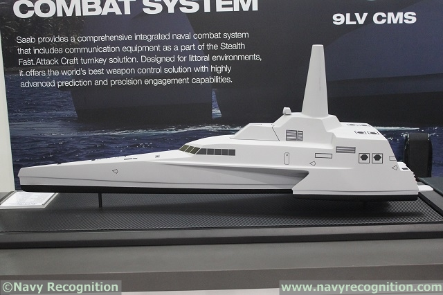 At DSA 2014, the 14th Defence Services Asia Exhibition and Conference currently held in Kuala Lumpur (Malaysia), Indonesian shipyard North Sea Boats (PT. Lundin) and Saab are showing an updated model of the 63m FMPV Trimaran design ordered by the Indonesian navy.
