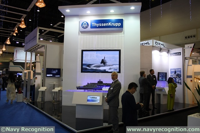 ThyssenKrupp Marine Systems, one of the leading European system providers for non-nuclear submarines and high-end naval vessels, participates at the 14th Defence Services Asia Exhibition and Conference from April 14 to 17, 2014, in Kuala Lumpur, Malaysia. At the ThyssenKrupp Marine Systems booth no. 1003C in hall 1, PWTC, visitors can experience an interactive display of a wide range of submarines and naval surface ships including: