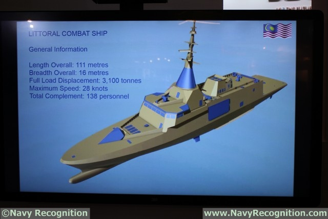 At the DSA 2016 tri-service defence exhibition currently held in Kuala Lumpur (Malaysia) Navy Recognition had the chance to get the latest update on the Gowind frigate Littoral Combat Ship (LCS) as part of the Second Generation Patrol Vessel (SGPV) program.