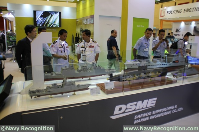 At the DSA 2016 tri-service defence exhibition currently held in Kuala Lumpur (Malaysia) South Korean company DSME is showcasing several of its most recent export projects: The Missile Corvette design for Malaysia, the 1400 Class SSK for Indonesia, the DW 3000H Frigate for Thailand and the Tide class fleet tanker.At the DSA 2016 tri-service defence exhibition currently held in Kuala Lumpur (Malaysia) French company CNIM is showcasing three of its force projection systems: The L-CAT, Landing Catamaran, the PFM, Motorized Floating Bridge and the PTA Modular Assault Bridge.