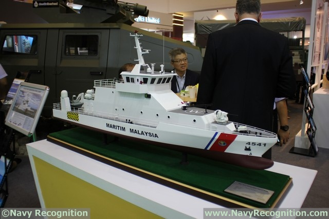 At the DSA 2016 tri-service defence exhibition currently held in Kuala Lumpur (Malaysia) local company Destini Shipbuilding is showcasing the New Generation Patrol Craft (NGPC) selected by the Malaysian Maritime Enforcement Agency (MMEA).