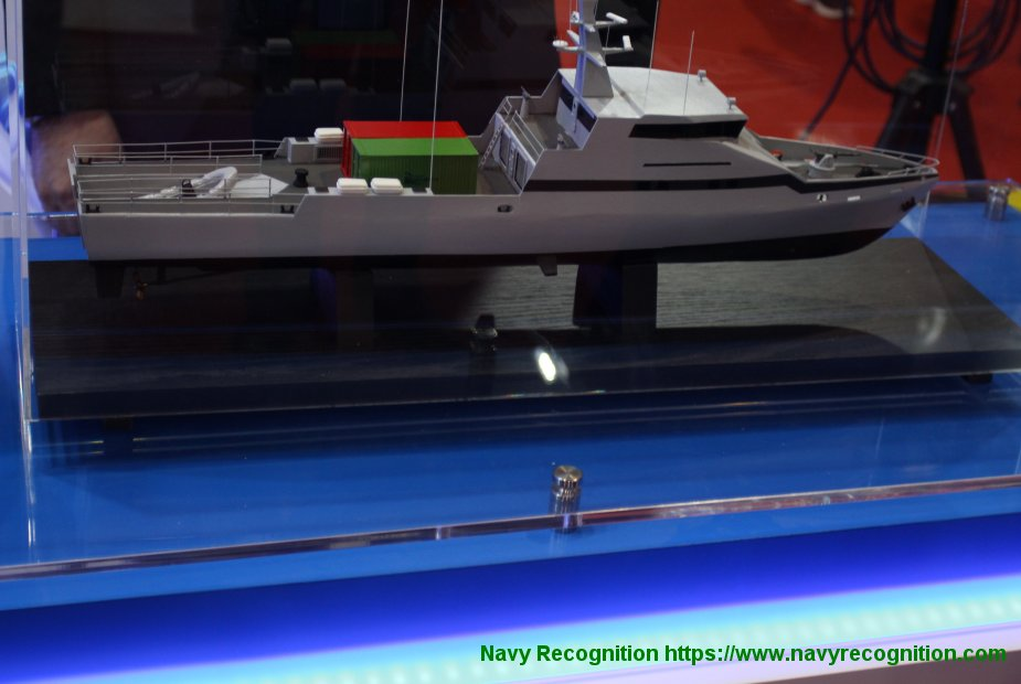 IMDEX 2019 Israel Shipyards unveiled its new Offshore Patrol Vessel OPV 45