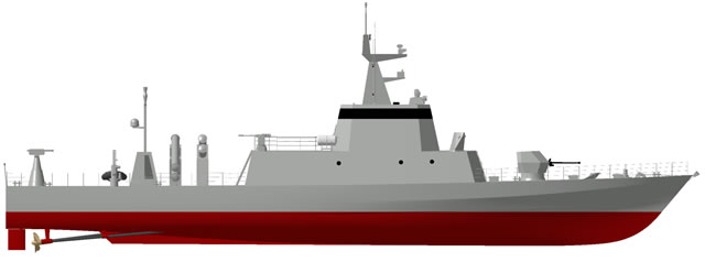 The Combattante FS46, evolution of sea proven CMN Combattante II class, is a Fast Attack Craft, able to perform with a high level of efficiency the tasks required by a Patrol Missile Boat mission's profiles.