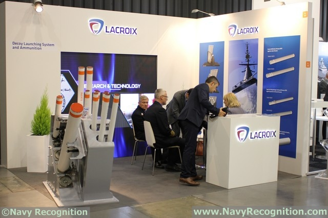 At the Balt Military Expo 2016 naval defense exposition currently underway in Gdansk, Poland, French company Lacroix is showcasing its SYLENA MK2 decoy launcher. It is a multiple decoy launcher designed to deploy three types of ammunitions: SEALEM, SEALIR and CANTO.