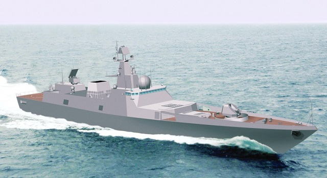 Project 22356 Frigate is designed to perform anti-sub hunter-killer missions, destroy inland targets and provide amphibious landing support. With her overall length of 135 m and 4750-tonne displacement, she is powered by compound 64400 shp gas-turbine propulsion plant supporting the maximum speed of 29.5 knots, range up to 4500 nautical miles and endurance of 30 days. These characteristics display the project 22356 frigate as the most favorable platform for shaping effective naval multi-purpose task forces.