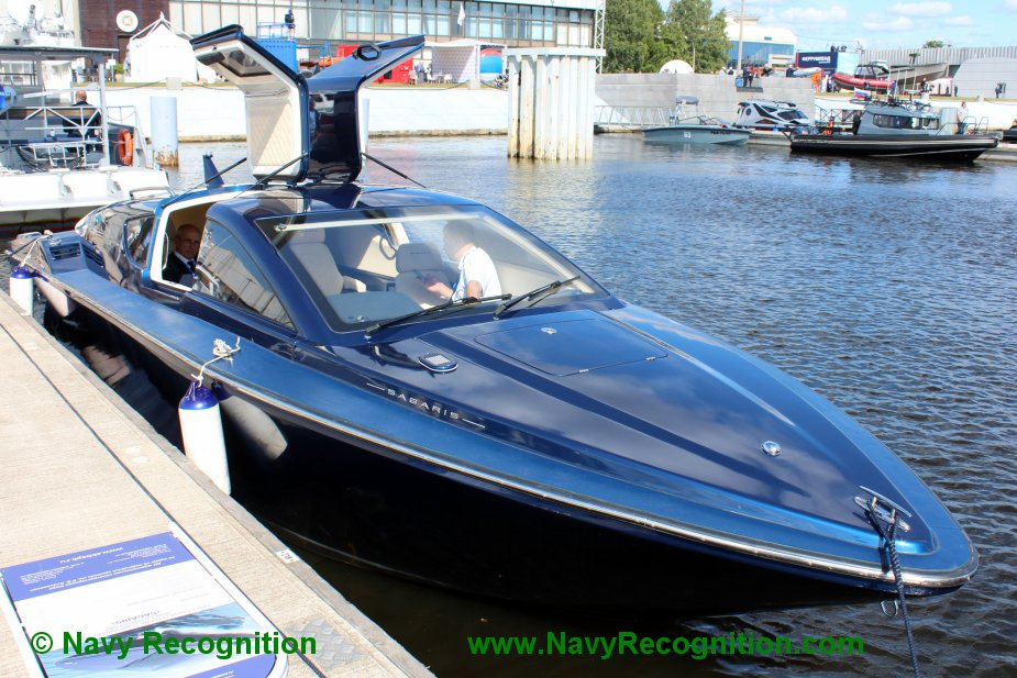 IMDS 2019 Sagaris a high speed hydrofoil motorboat for potential navy service