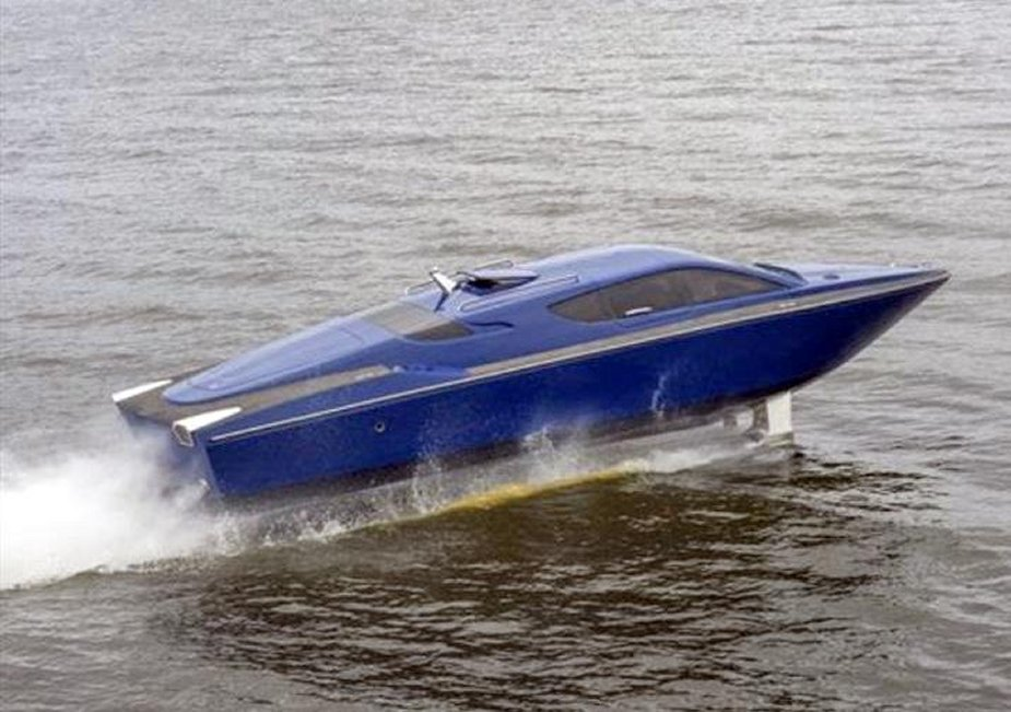 IMDS 2019 Sagaris a high speed hydrofoil motorboat for potential navy service 2
