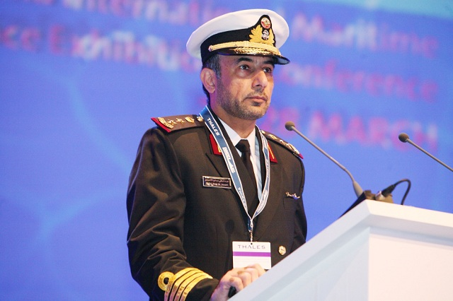 DOHA – 26 MAR 2012: His Highness Sheikh Tamim Bin Hamad Al Thani, Heir Apparent of Qatar and Deputy Commander-in-Chief of the Qatar Armed Forces yesterday officially inaugurated the third Doha International Maritime Defence Exhibition and Conference (DIMDEX 2012).
