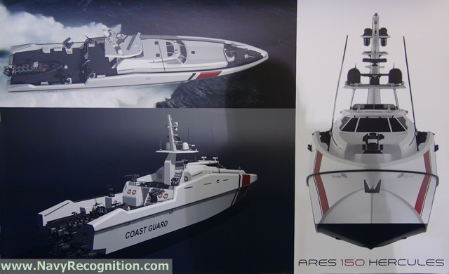 "The ""ARES 150 Hercules"" multi-role patrol craft"