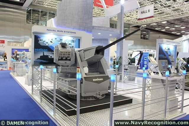 The Turkish Company Aselsan, a world leader in the field of military equipment unveils a new generation of 30mm remote controlled stabilized naval guns system at DIMDEX 2014, the International Naval & Maritime Defence Exhibition in Doha, Qatar. The youngest member of ASELSAN's Remote Controlled Weapon Systems (RCWS) family is called MUHAFIZ.
