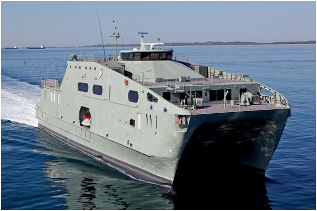 Austal is preparing to deliver the latest variant of the company's proven theatre support vessel platform, the High Speed Support Vessel (HSSV), to the Royal Navy of Oman (RNO) in April 2016 - following successful acceptance trials in Western Australia.