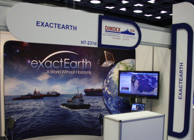 exactEarth showcases at Dimdex 2016 its global maritime vessel data for ship tracking and maritime situational awareness solutions.