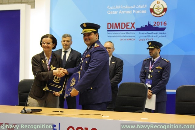The second day of the fifth Doha International Maritime Defence Exhibition and Conference (DIMDEX 2016) opened with ten major deals signed between Qatar and exhibiting companies. At a Memorandum of Understanding (MoU) signing ceremony, the following were announced: