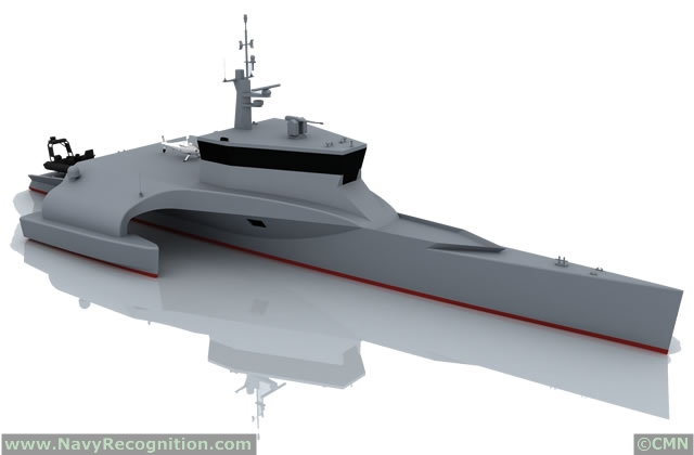 In 2013 CMN confirms its will to propose innovating designs to meet the requirements expressed by the most exacting navies. In addition to the COMBATTANTE SWAO 53 and COMBATTANTE FS 56 new projects already presented in 2012, CMN goes on and introduces in 2013 new designs as performance criteria of its vessels. The OCEAN EAGLE 40 shall be shortly presented during the next IDEX / NAVDEX exhibitions in Abu Dhabi.