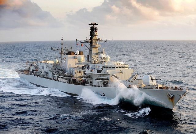 HMS Northumberland, a Type 23 Frigate with a Merlin helicopter on board will be at NAVDEX