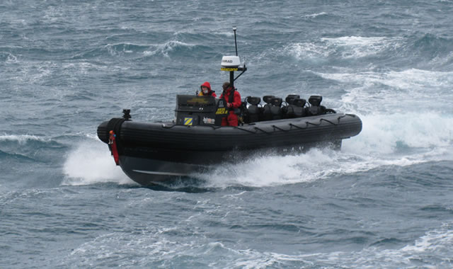 Zodiac MILPRO has supplied two top-of-the- range In board diesel RIBS for use by the advanced new Offshore Patrol Vessel : L' Adroit. The 87 metre vessel built by DCNS Group will be presented at Navdex. The Zodiac Hurricane Ribs will be central to many of the duties of L'Adroit and will be deployed from a unique launching ramp in the Adroit's stern. This will enable the RIB to be launched and recovered quickly and safely in extreme sea conditions .