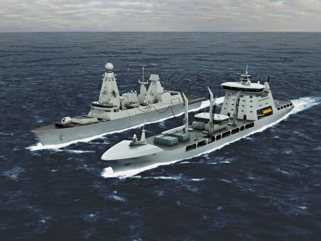 Two Korean shipbuilders and one from Italy have been listed among the three finalists for the Royal Navy's project to purchase logistics support vessels (MARS program - Military Afloat Reach and Sustainability), the Korean state procurement agency said Thursday.