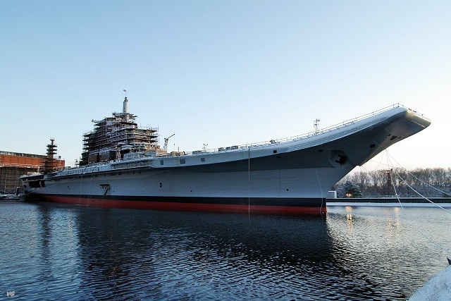 A Russian-built aircraft carrier due to be delivered to the Indian Navy following a much-delayed refit has successfully passed engine tests during the first stage of final sea trials in the White Sea, shipbuilder Sevmash said Tuesday. The current trials focused on the ship's propulsion system and its ability to perform as required.