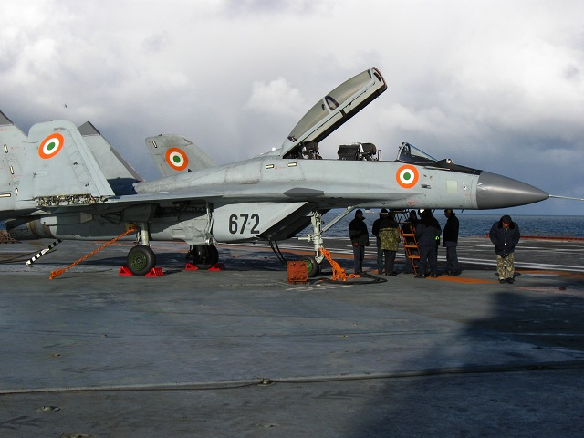 Russia will complete the deliveries of MiG-29K/KUB (NATO reporting name: Fulcrum-D) multirole naval fighters to India in 2016, according to the Stockholm International Peace Research Institute`s (SIPRI) arms transfers database.