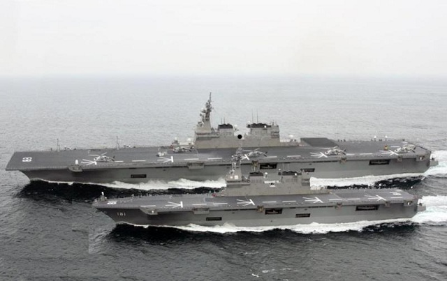 Japan plans to build a 19,500-ton aircraft carrier capable of housing helicopters after China launched its first own aircraft carrier, Chinese media reported on Wednesday. Japan already has two helicopter carriers -- the Hyuga deployed in March 2009 and the Ise deployed in March 2011 -- but the planned new vessel will be bigger.