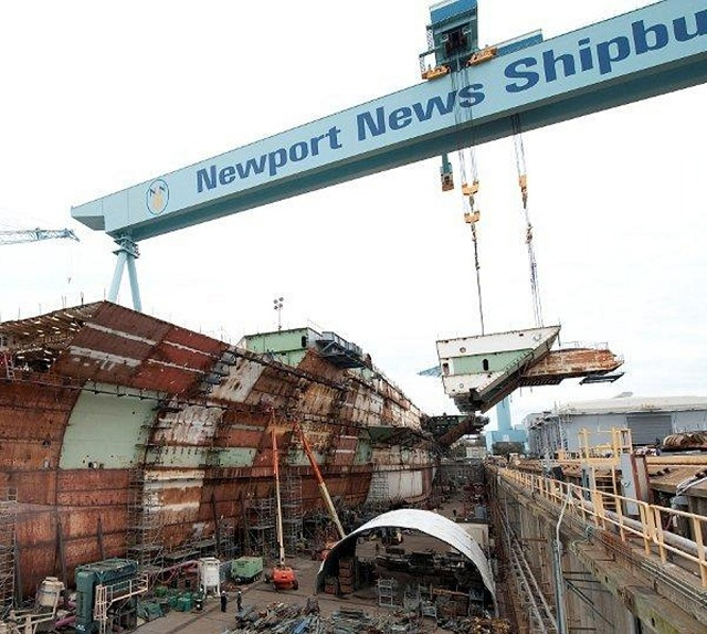 Huntington Ingalls Industries announced today that its Newport News Shipbuilding (NNS) division has reached 90 percent structural completion in the building of the nuclear-powered aircraft carrier Gerald R. Ford (CVN 78).