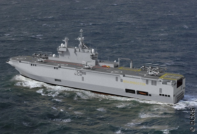 Russia's second Mistral-class, amphibious assault ship will be complete in October 2014, a deputy prime minister in charge of the defense industry said Sunday, adding that the first Mistral would enter the nation's fleet this October.