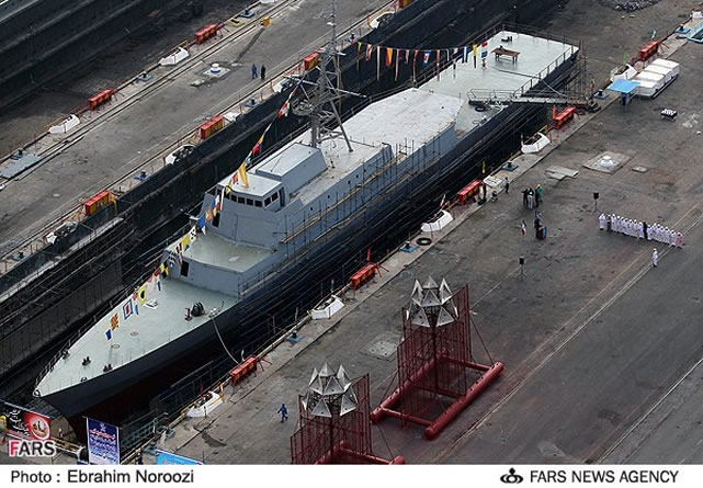 "Iran launched a new Sina 7 missile launching frigate, two BH7 ""Tondar"" hovercrafts and two Qadir class light submarines in its waters in the Persian Gulf on Wednesday November 28th on the occasion of the National Day of Navy."