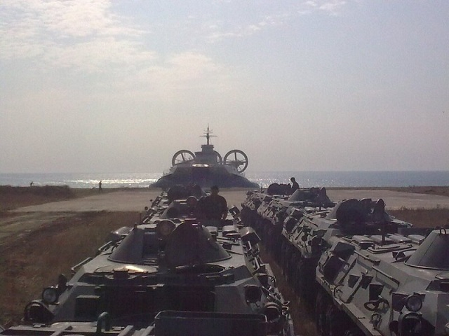 Fresh pictures of a Zubr class air-cushioned landing craft bound for China have emerged. The pictures show the LCAC during its builder trials in Ukraine before its delivery to the Chinese Navy.