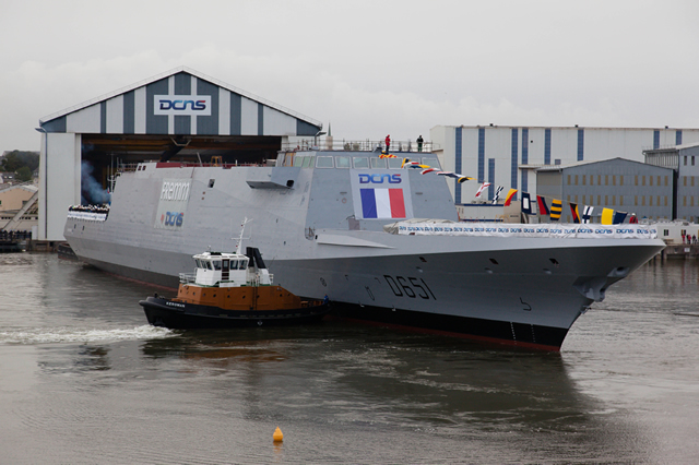 On october 18, 2012, DCNS launched the Normandie FREMM frigate in the presence of French Minister of Defence, and Minister of Economy and Finance. This success underlines once again the industrial dynamism of DCNS: six multi-mission frigates are currently under construction.