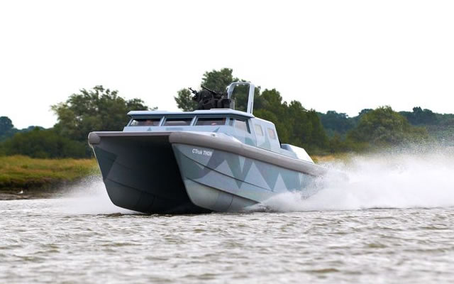 First time exhibitor, CTruk, is launching its new Twin Hulled Offshore Raider (THOR) at DSEI in London from 10-13 September 2013. In addition to CTruk's stand presence (S8-298), THOR is taking part in the twice-daily waterborne displays adjacent to the ExCel venue and seats are available on board for journalists who wish to experience THOR's capabilities as a fast and stable force protection craft.