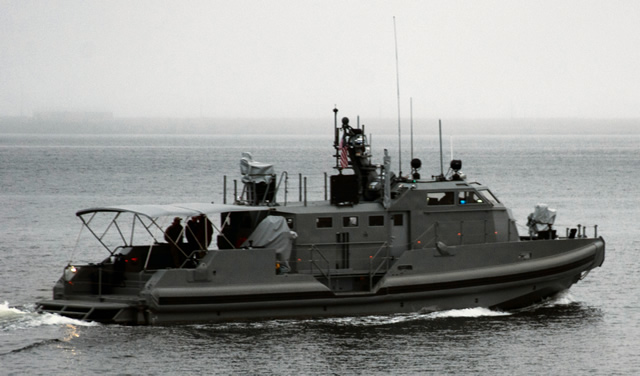 The 65PB1101 coastal command patrol boat (CCB) departed Port Angeles, Wash., to transit to San Diego, Calif., Aug. 5-11. The boat was manned by a Fleet Integration Team consisting entirely of Navy Reservists. The CCB underwent developmental testing in the Puget Sound and the Strait of Juan de Fuca from April to August 2013. During testing, the boat encountered wave heights of 4-6 feet.