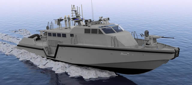 The new class of coastal command patrol boats is based on the future US Navy Mark VI patrol boat currently being built by Safe Boats International. 5 MK VI boats have been ordered by the US Navy.