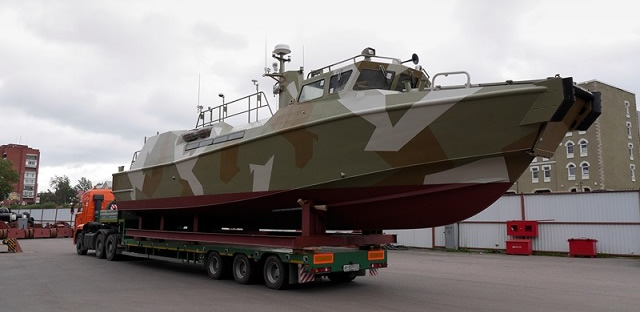 "Russian shipyard Open Joint Stock Company ""Pella"" based in Leningrad launched the first Project 03160 Raptor high speed patrol boat for the Russian Navy on 15 August 2013. The vessel was entirely built by Open JSC ""Pella""."