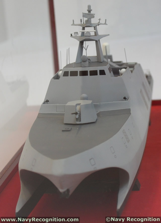 "At TADTE 2013, the Taipei Aerospace & Defense Technology Exhibition, ROC Navy (Republic of China - Taiwan) unveiled a vessel currently under construction by the Lung-De Shipbuilding Corporation dubbed the ""High Efficience Wave Piercing Catamaran (WPC)"""