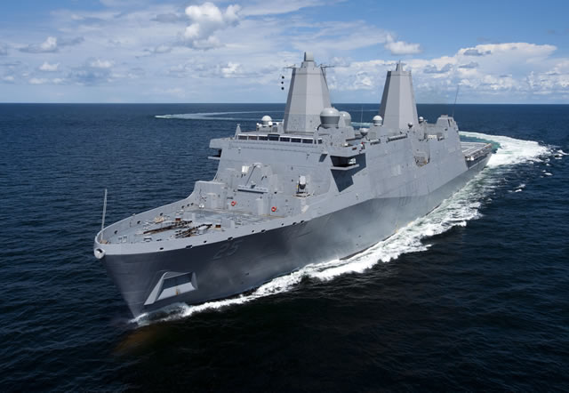Huntington Ingalls Industries announced today that the amphibious transport dock Somerset (LPD 25) returned from successful U.S. Navy acceptance sea trials on Sept. 20. The company's ninth ship in the San Antonio (LPD 17) class returned to the company's Avondale facility following three days of at-sea demonstrations and testing.