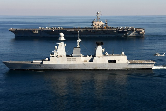 The French Navy is deploying one of its two Horizon class Air Defense Destroyers to the Eastern Mediteranean according to French weekly Le Point. The Chevalier Paul will join the four US Navy Guided Missile Destroyers and an undisclosed number of US and UK submarines already in the area. The role of the French Destroyer would be to provide air defense for the fleet, as well as air cover for coalition warplanes should they get involved in an air assault.