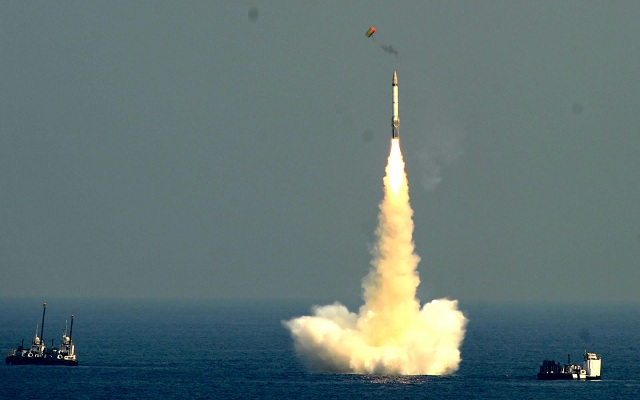 The Indian Navy and DRDO (Defence Research and Development Organisation) conducted a successful fourteenth test of the new submarine launched ballistic missile K-15 (project name B05).