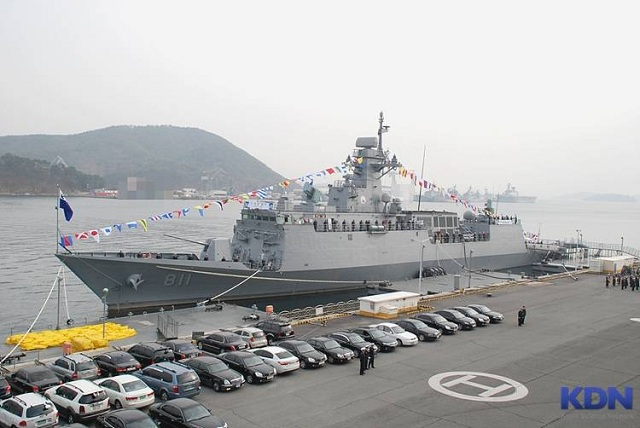 Republic of Korea Navy commissioned on 17 January 2013 the first of its next next generation FFX I class Frigate. The ship was by Hyundai Heavy Industry and is expected to replace the aging fleet of Pohang class corvettes and Ulsan class frigates, and take over multi-role operations such as coast patrol or anti-submarine warfare.