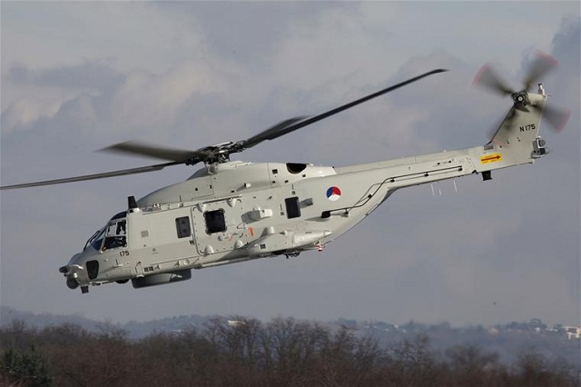 The newest helicopter of the Dutch Armed Forces, the NH90 is aboard HNLMS De Ruyter Frigate on its way to Somalia. It is the first overseas mission for the maritime helicopter. The NH90 will provide an important contribution to the EU anti-piracy mission Atalanta.