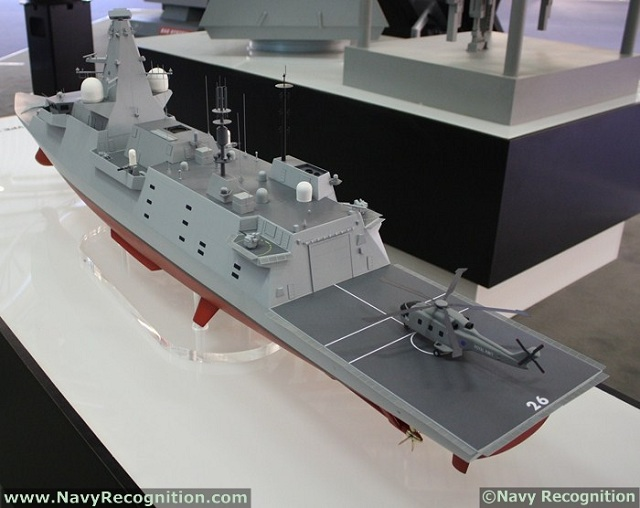 "During Euronaval 2012 in October last year, BAE Systems Maritime – Naval Ships showcased a Type 26 ""Global Combat Ship"" frigate model with a slightly modified design compared to the big design update unveiled during DSA 2012 in April last year. We asked a few questions to BAE Systems on the reasons behind the latest changes to the design."