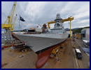"Today Riva Trigoso (Genoa) shipyard celebrated the launch of the frigate ""Carlo Margottini"", the third of a series of Fremm vessels - Multi Mission European Frigates - ordered from Fincantieri by the Italian Navy within the framework of an Italo-French program of cooperation."