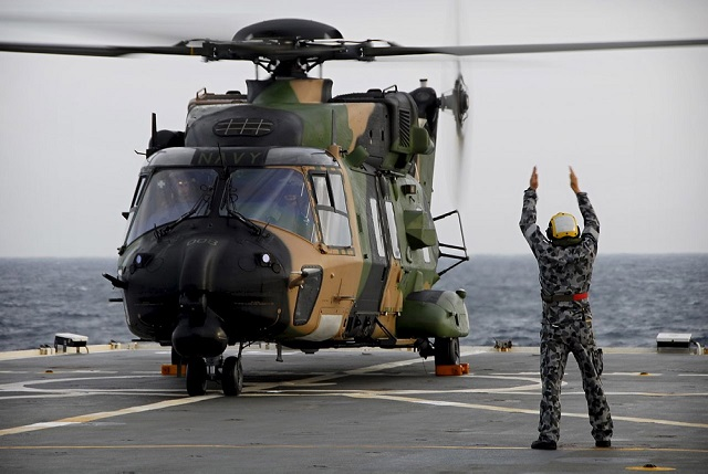 The Royal Australian Navy is leading the world in bringing the new MRH90 'Taipan' Multi-Role Helicopter into service at sea. The RAN soon-to-be-commissioned 808 Squadron has been conducting trials, testing, evaluation and training on the MRH90 Taipan helicopter since 2010.