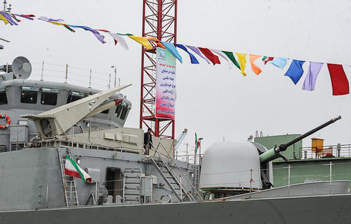 "Iran launched its second Mowdge class ""destroyer"" (Frigate class according to western standards), dubbed as ""Jamaran 2"", on Sunday after a reported development that took six years. The ""Jamaran 2"" appears to be an evolution of the existing Jamaran Frigate design, sporting new electronic and weapon systems."