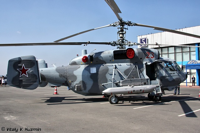 The Ka-29 is designed for assault and transport missions