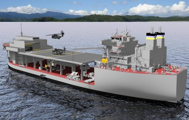 The U.S. Navy has awarded General Dynamics NASSCO a $128.5 million contract for the detail design and construction of the Mobile Landing Platform (MLP) 3 Afloat Forward Staging Base (AFSB). NASSCO is a business unit of General Dynamics.