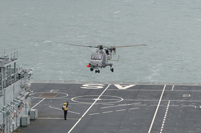 A special trials version of Wildcat – replacement for the trusty Lynx which has been in service since the 1970s – has joined aviation training/casualty treatment ship RFA Argus to gather crucial data to allow the helicopter fly from large Royal Navy warships. Wildcat will spend the bulk of its time operating from Royal Navy frigates and destroyers – just like its predecessor.